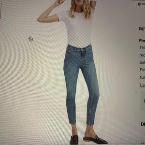 Everlane midrise skinny ankle jeans